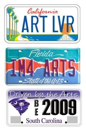 Arts license plates