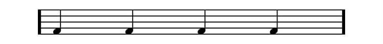 drum sheet music bass drum