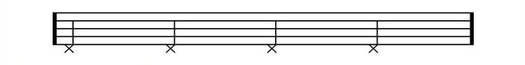 drum sheet music hi hat foot