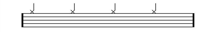 drum sheet music hi hat