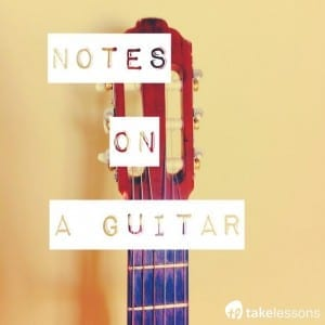 notes on a guitar by string