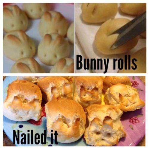bunny roll pinterest fail