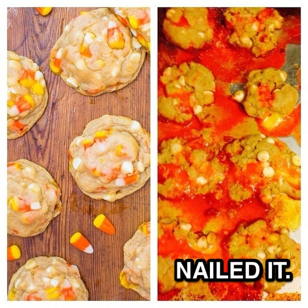 candy corn pinterest fail