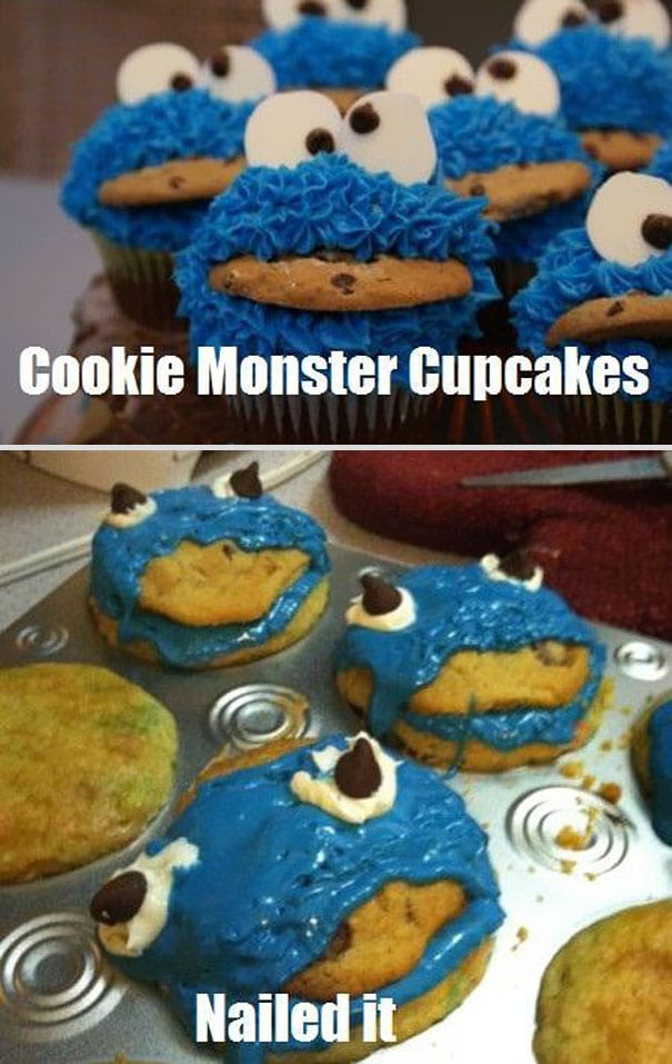 cookie monster pinterest fail