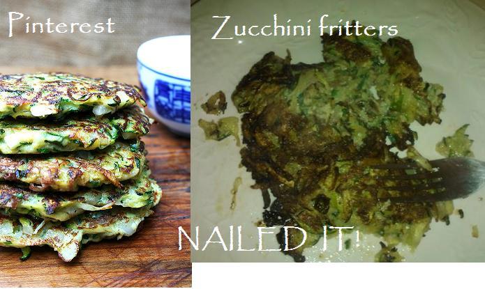 zuccini fritters pinterest fail