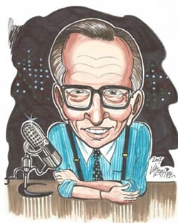 Larry King caricature 2