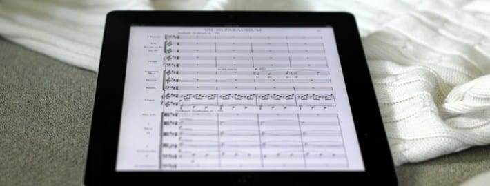Fauré Requiem score on the iPad