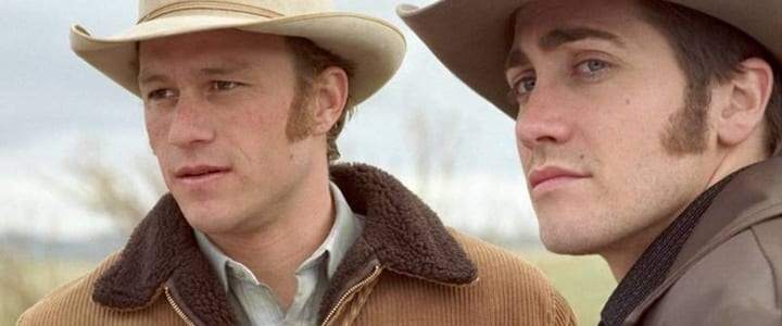 Ledger and Gyllenhaal in Brokeback Mountain