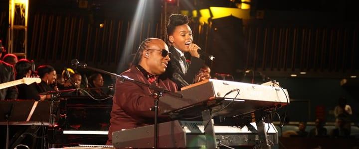 Stevie Wonder and Janelle Monae