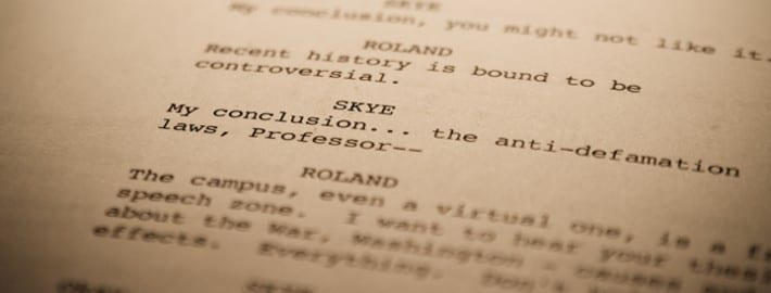 screenplay writing basics How to format a screenplay: rules of screenplay formatting the article provided an example of a properly formatted screenplay scene and gave a writing exercise.