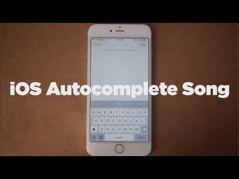 Video thumbnail for youtube video Stuck on Lyrics? Maybe iOS 8's Autocomplete Feature Can Help