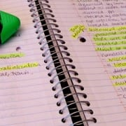 color-coded notes