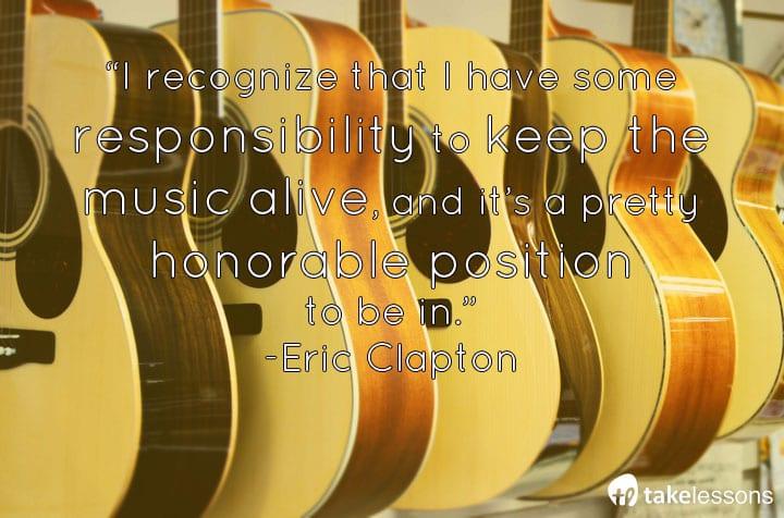 Famous Guitarists Quotes Eric Clapton