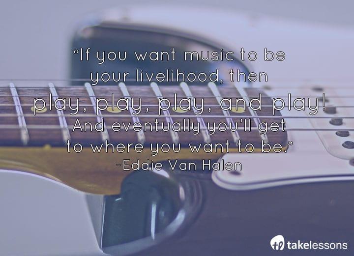 Famous Guitarists Quotes Van Halen