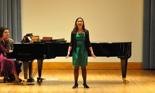 singing with an accompanist