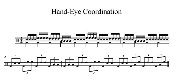 Hand-Eye Coordination for Drummers