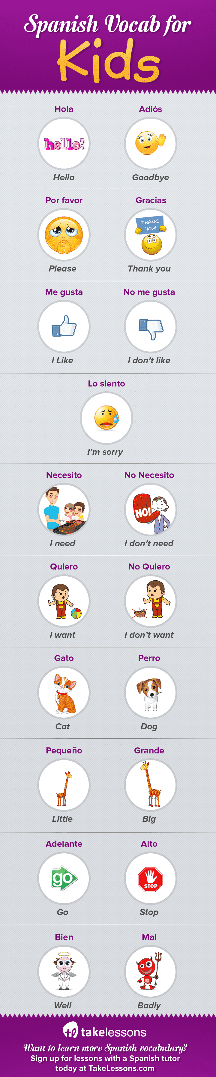 19 Easy Spanish Vocabulary Words to Teach Your Kids