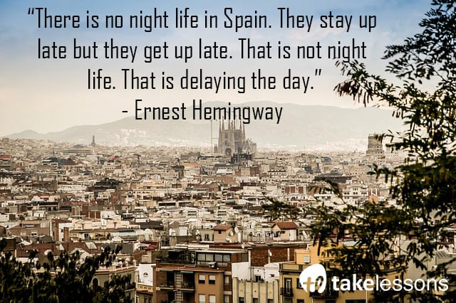 There is no night life in Spain
