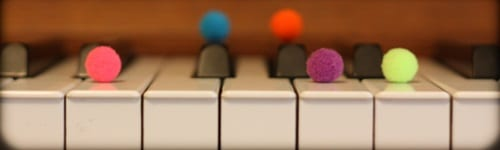 colored objects- Tricks for Beginners to Visualize Piano Major Scales