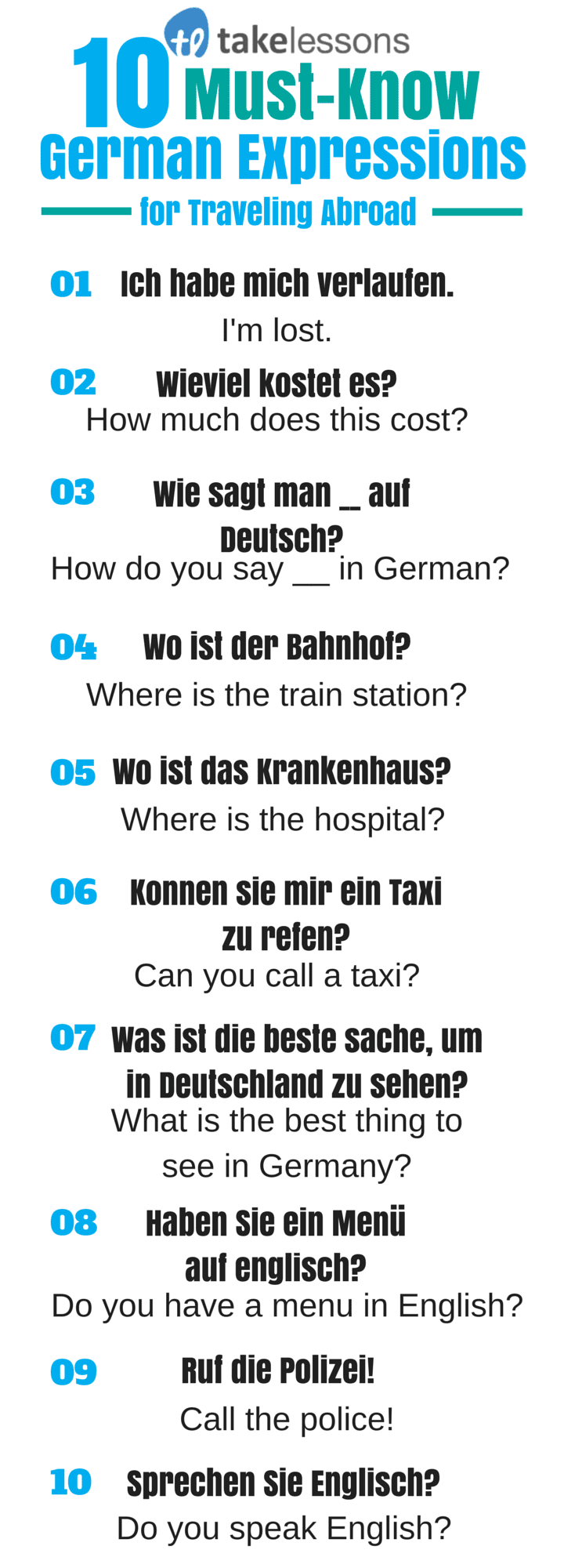 i need auf deutsch