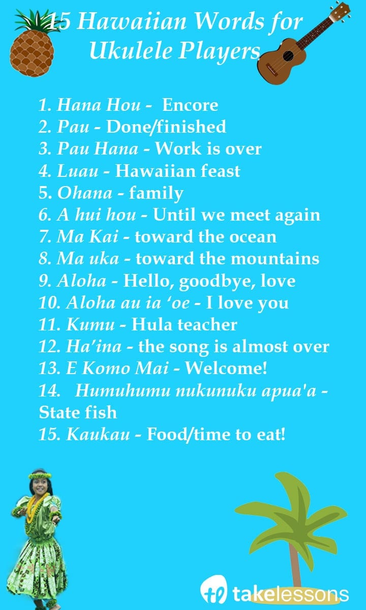 Ukulele page 4 of 7 takelessons blog 15 hawaiian words ukulele players should know hexwebz Choice Image