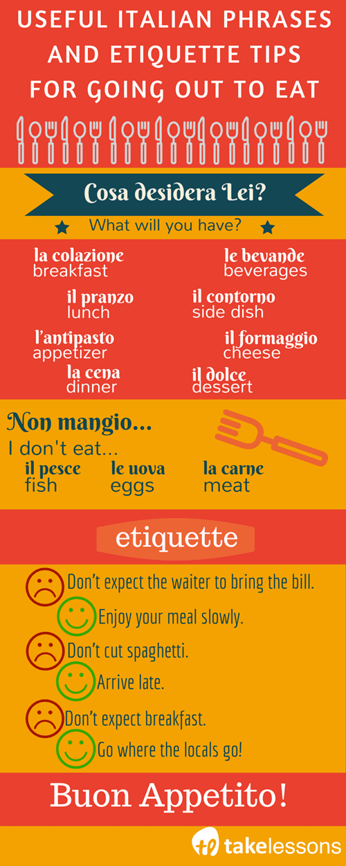 info USEFUL ITALIAN PHRASES AND ETIQUETTE TIPS FOR GOING OUT TO EAT