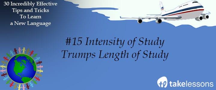 intensity of study