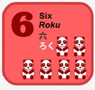 six in Japanese