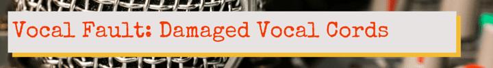 Vocal Fault: Damaged Vocal Cords