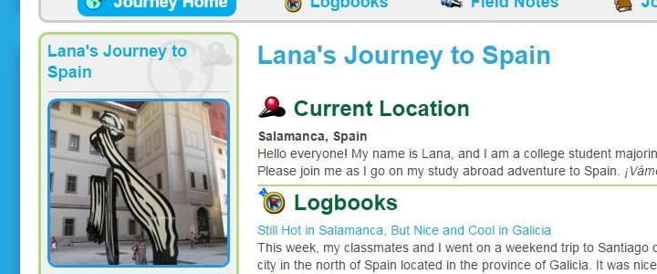 Lana's journey to Spain