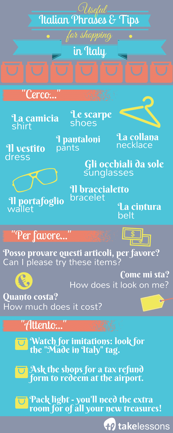 Useful Italian Phrases and Tips for Shopping in Italy