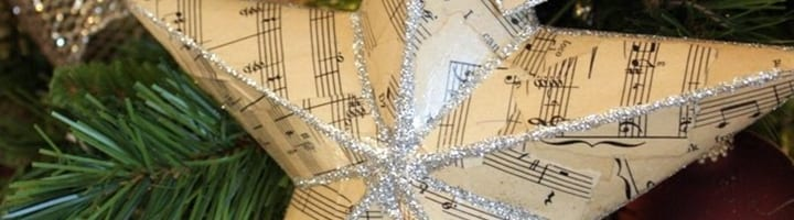 musical crafts - sheet music ornament