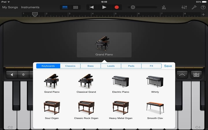 Piano Garage Band : Free low cost piano apps for the ipad reviewed