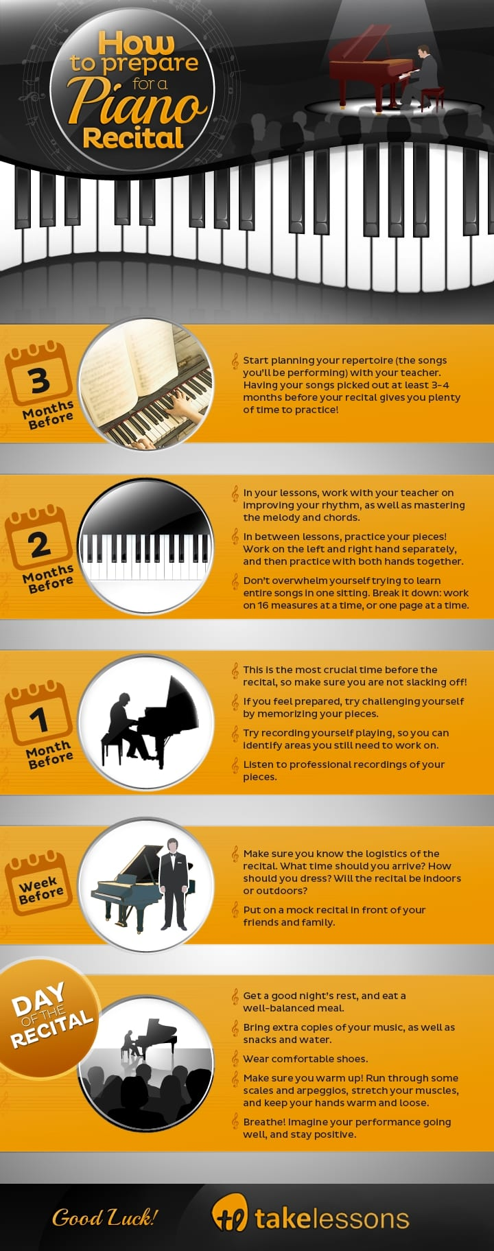 Piano Recital Timeline - How to Get Ready for Your First Piano Recital