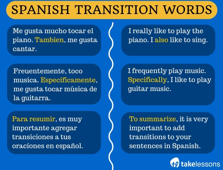 ap spanish essay transitions Just like transitions add structure and depth to your essay,  transition, persuasive, and descriptive words.