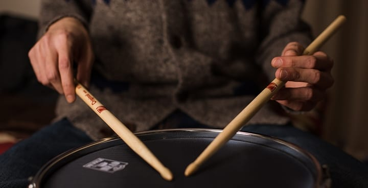 Hand Holding Stick ~ How to hold drum sticks traditional grip vs matched