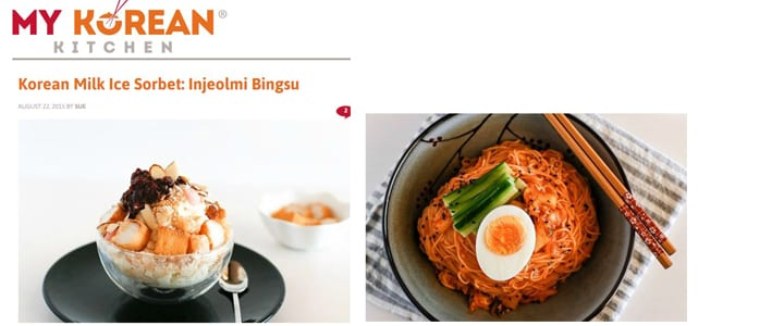 Korean food blogs