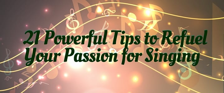 how to stay motivated as a singer