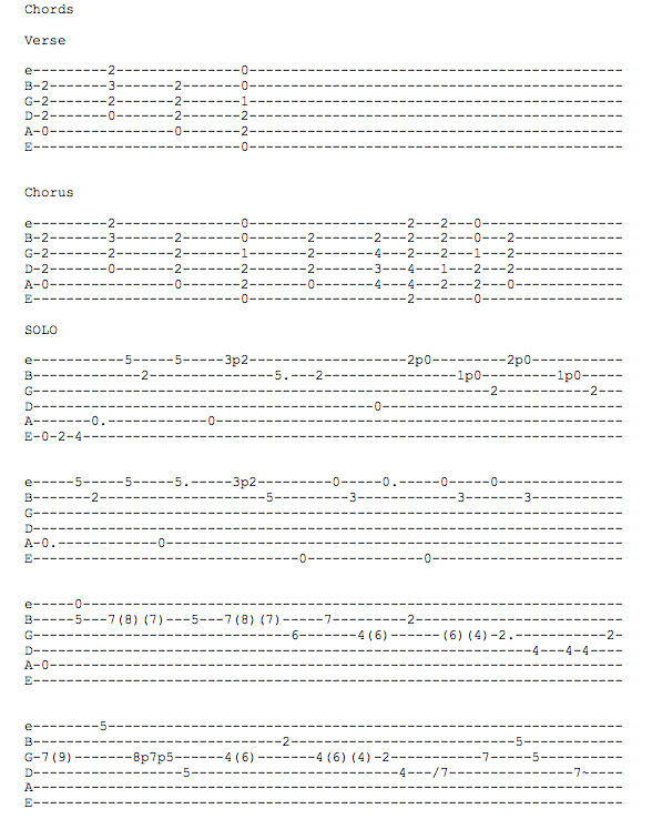 Guitar best guitar tabs to learn : Guitar : best guitar tabs to learn Best Guitar Tabs To or Best ...