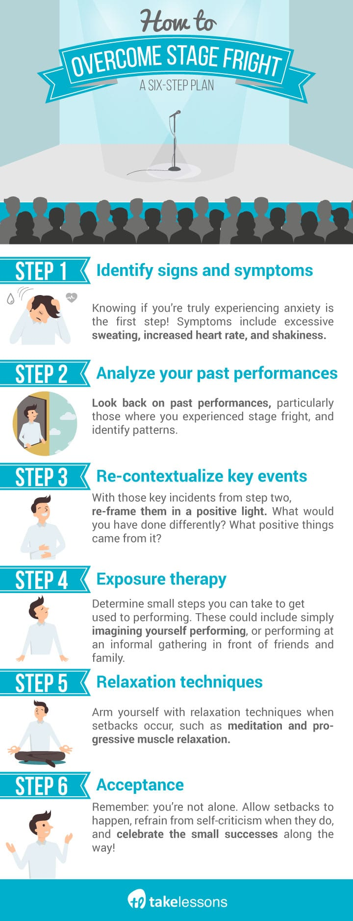 How to Overcome Stage Fright Infographic