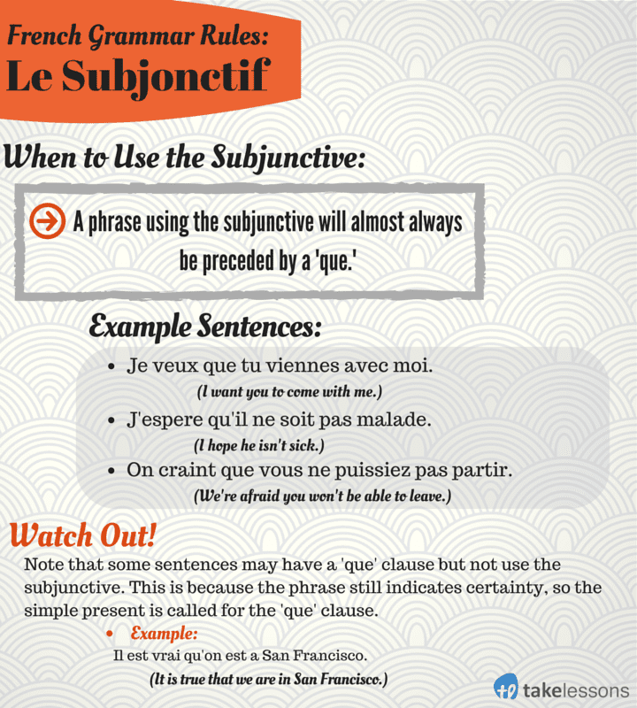 When to Use the French Subjunctive