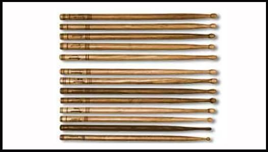 types of drum stickcs
