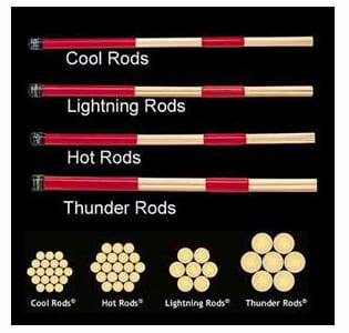 types of drum sticks