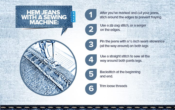 how to hem with sewing machine