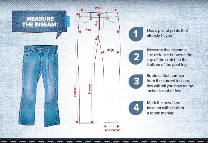 How to Measure The Hem on Jeans