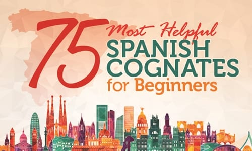 Spanish Cognates: 75 Easiest Words to Learn Spanish Fast [Infographic]