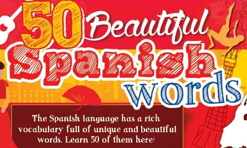 50 Beautiful Spanish Words 500x300