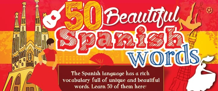 50 Beautiful Spanish Words 720x300
