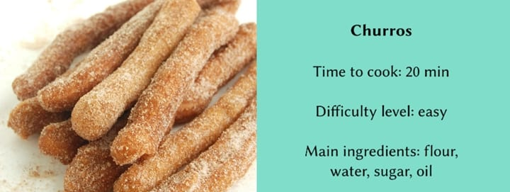 Traditional Spanish dishes - churros