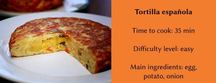Traditional Spanish dishes - tortilla española